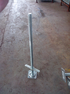"36"" Scaffolding Screw Jack with Fixed Base Plate"
