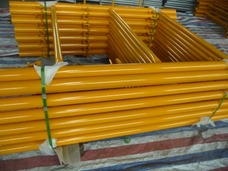 Shoring Frame Scaffolding 6′ X4′ with Canadian Lock Yellow Painted