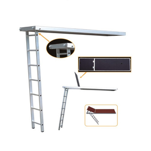 Aluminum/Plywood Plank with Trapdoor and Ladder for Scaffolding