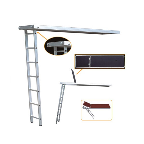 Aluminum/ Plywood Plank with Trapdoor and Ladder for Ringlock Scaffolding