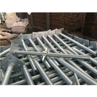 Galvanized Adjustable Scaffolding Screw Levelling Jack Base for Construction